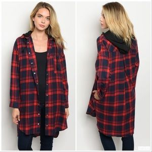 Jackets & Blazers - 5 ⭐️ Rated Fall Perfect Red/Navy Checkered Jacket